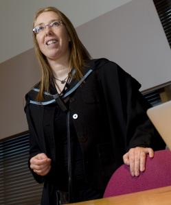 Hazel Hall delivers her inaugural professorial lecture