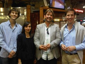SLA ECCA award winners 2011: Samuel Wiggins, Natalia Madjarevic, Ned Potter and Chris Cooper