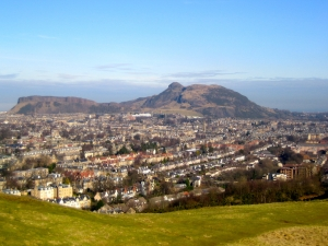 Panorama of the city of Edinburgh