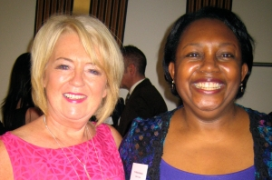 Liz McGettigan and Malorie Blackman