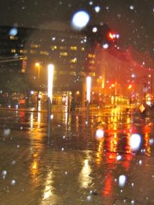 Hurricane Sandy by night