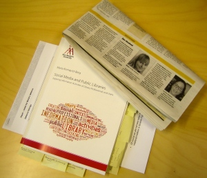 The opponent's marked-up copy of the thesis and coverage of the defence in the local press