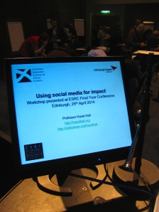 At the session on using social media for impact