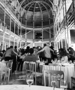 Dancing at the conference dinner ceilidh