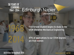 Edinburgh Napier Athena SWAN screensaver