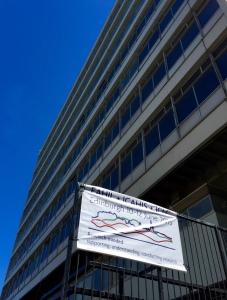 EAHIL banner at Appleton Tower