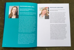 Hazel Hall's speaker profile in the awards booklet