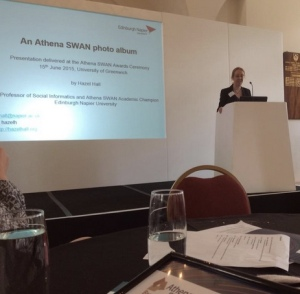 Presentation of the Edinburgh Napier Athena SWAN photo album