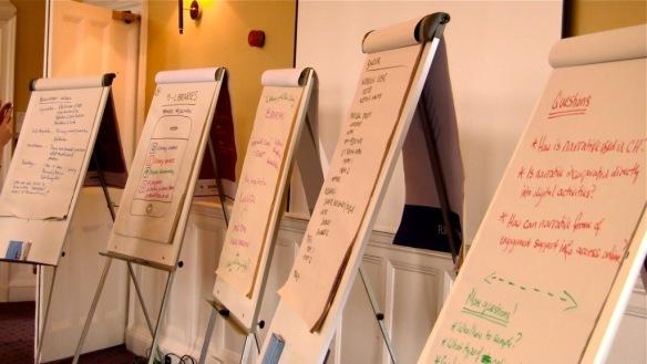 Unconference half hour flip charts at DREaM workshop 1