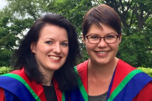 2015 School of Computing PhD graduates Dr Hannah Rudman and Dr Louise Rasmussen
