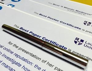 IDIMC prize certificates