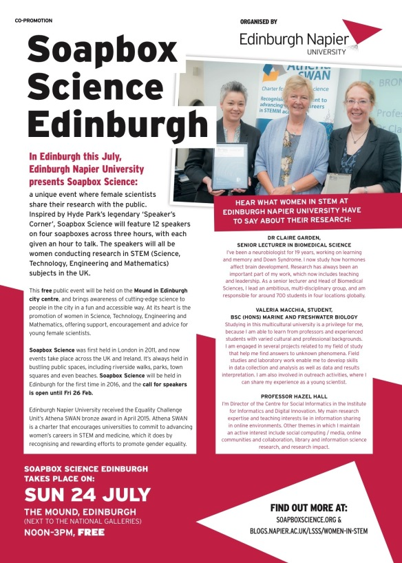 Soapbox Science Edinburgh in the List