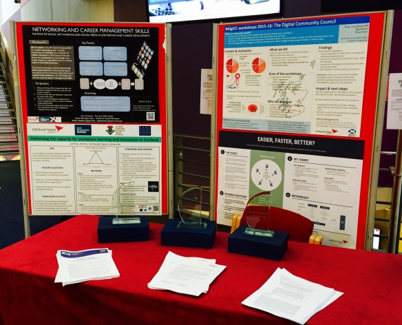 Centre for Social Informatics stand and awards