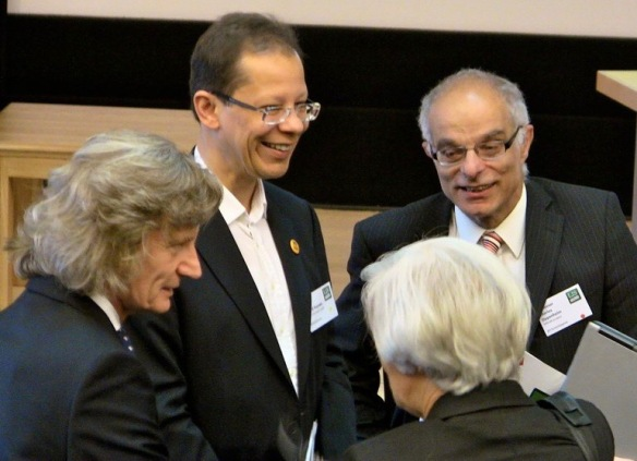 Professor Blaise Cronin, Dr David Haynes, Professor Charles Oppenheim and Sandra Ward 2011