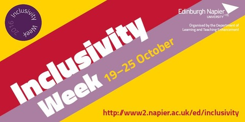 Napier Inclusivity Week 2016 banner