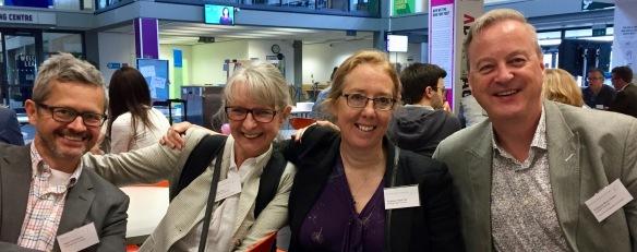 CSI staff Peter Cruickshank, Dr Laura Muir, Professor Hazel Hall & Visiting Professor Brian Detlor at #i3RGU