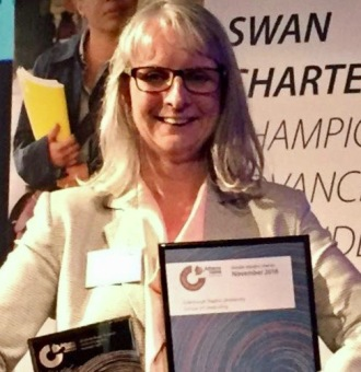 Dr Laura Muir at the Athena SWAN July 2017 awards ceremony