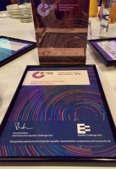 SoC Athena SWAN certificate & trophy
