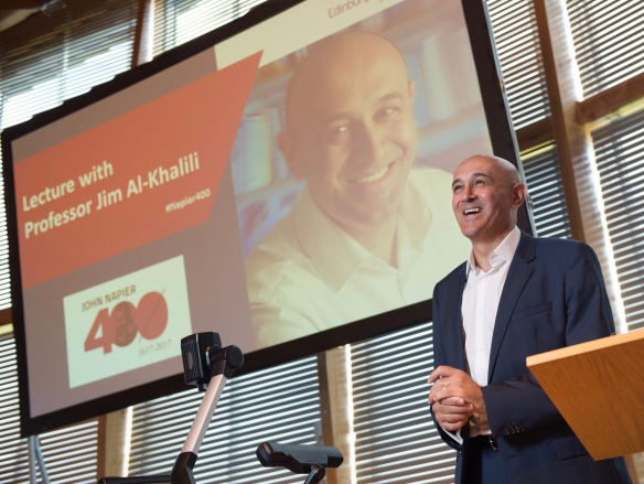 Professor Jim Al-Khalili speaking