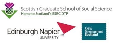 ESRC-SDS-Napier studentship logos