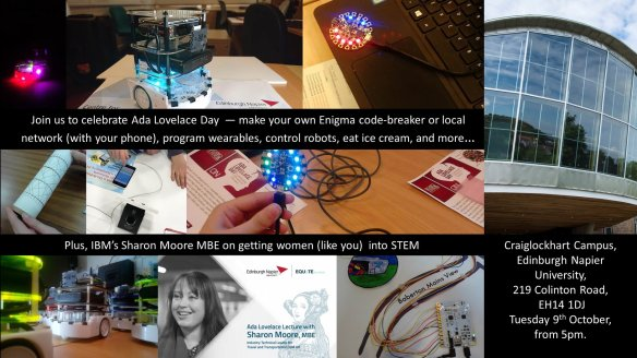 Ada Lovelace Day events Napier 2018