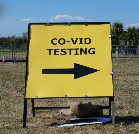 COVID-19 teasting sign