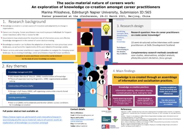 Marina Milosheva #iconf2021 #iconf21 poster knowledge co-creation