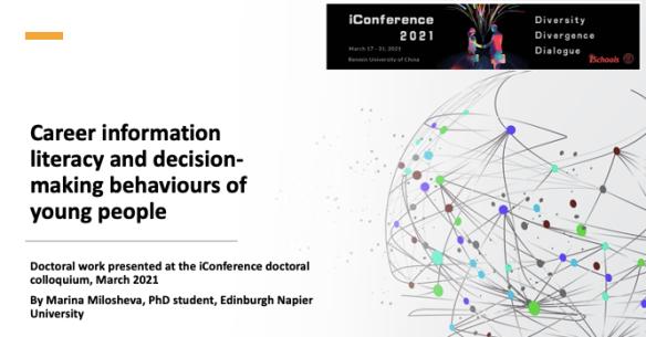 career information literacy decision making #iconf21 #inconf2021 Marina Milosheva