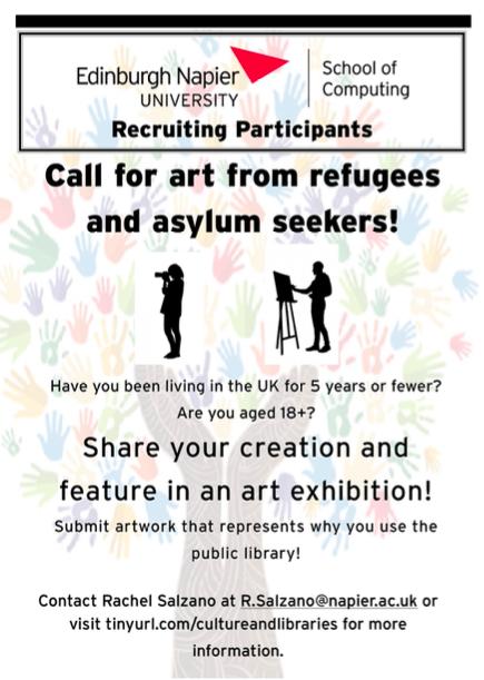 Rachel Salzano art exhibition call poster