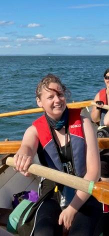 Katherine Stephen rowing