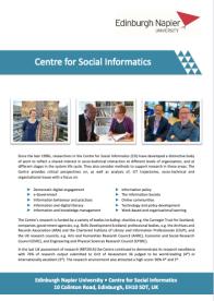 Centre for Social Informatics flyer version 13