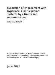 Peter Cruickshank PhD title page